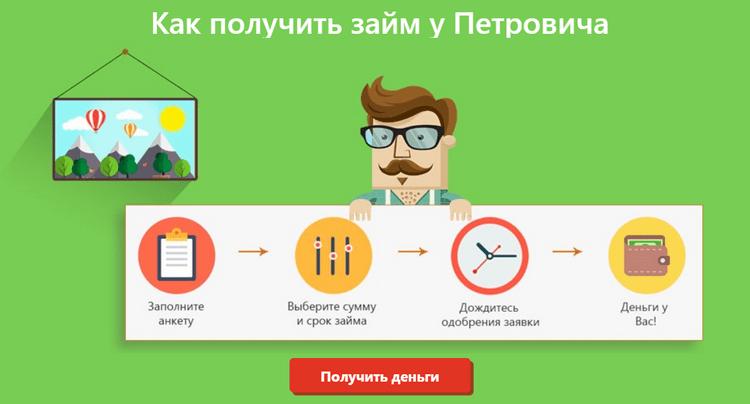 как получить займ У Петровича