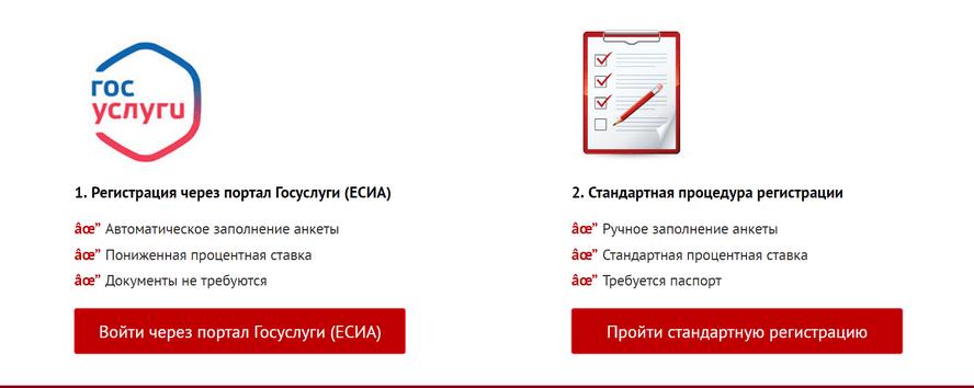Микроклад личный кабинет - регистрация через Госуслуги и стандартная форма