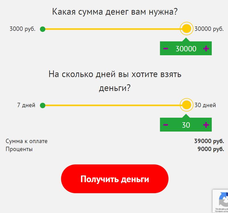 Калькулятор микрозайма Фаст Мани