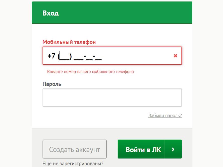 Регистрация личного кабинета Platiza, вход