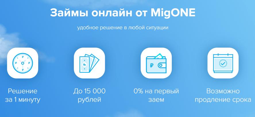 Займы MigONE - основные преимущества